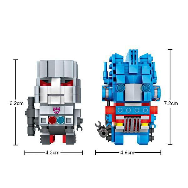 LOZ Brickheadz Optimus Prime and Megatron
