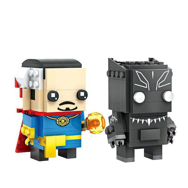 LOZ Brickheadz Doctor Strange and Black Panther