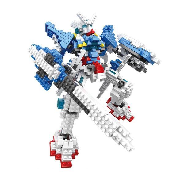 LOZ Transformers Gundam Blue