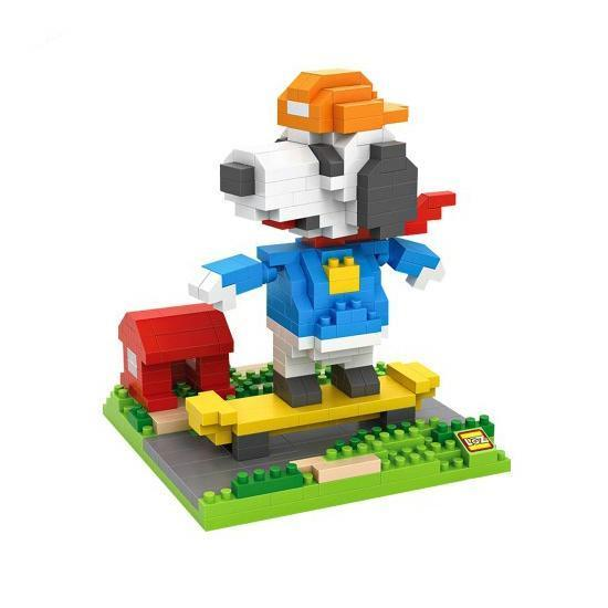 LOZ Snoopy Skateboarding