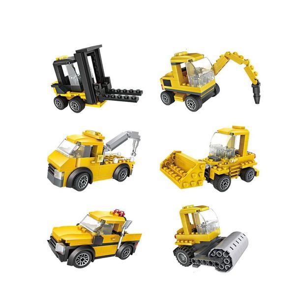 LOZ Cube Dudes Trucks x6