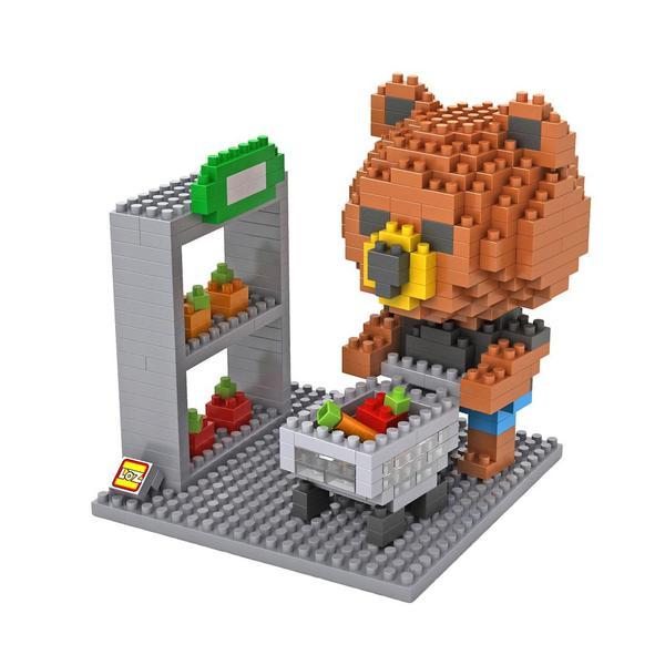 LOZ Brown Bear Shopping