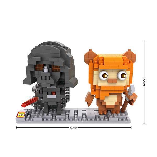 LOZ 9533 Star Wars Darth Vader and Ewok