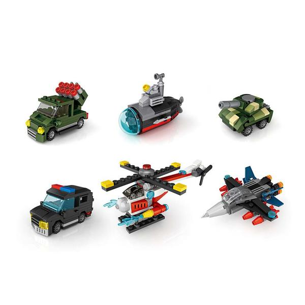 LOZ Cube Dudes Military Vehicles