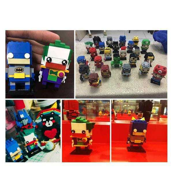 LOZ Brickheadz Joker and Batman