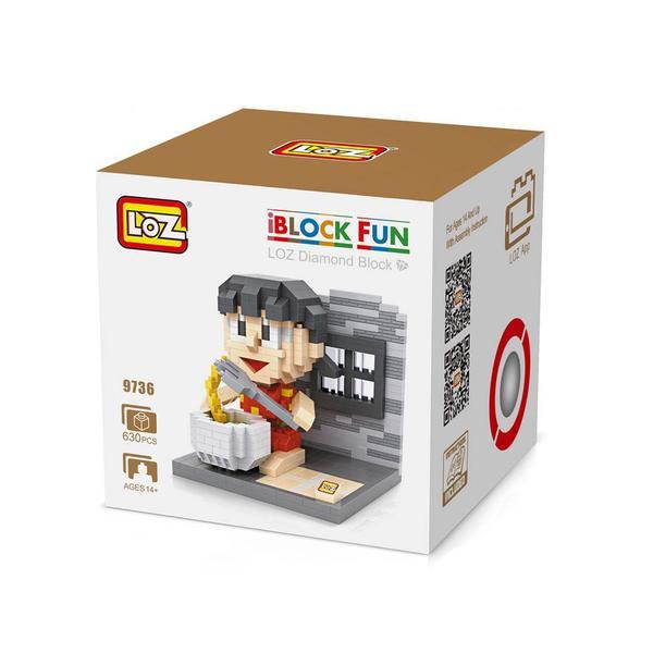 LOZ 9736 Doraemon Shizuka Eating