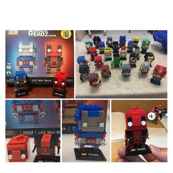 LOZ Brickheadz Deadpool and Blue Men
