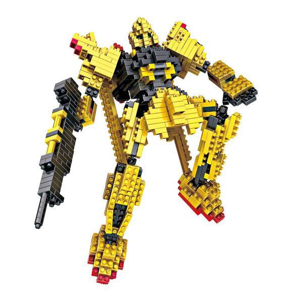 LOZ Transformers Gundam Yellow