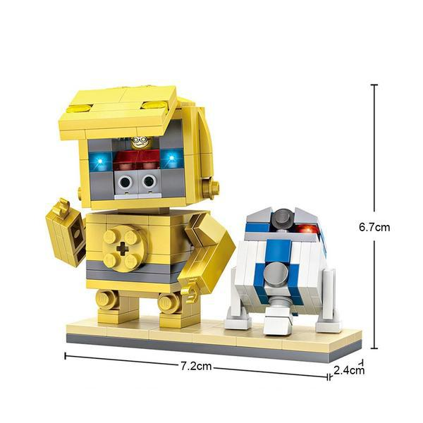 LOZ Brickheadz C3P-O and RD2D