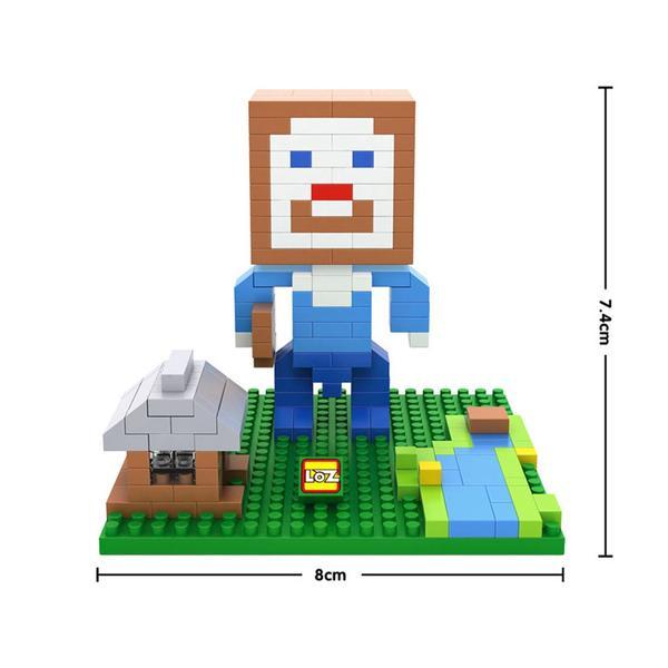 LOZ 9468 Minecraft Brown Head