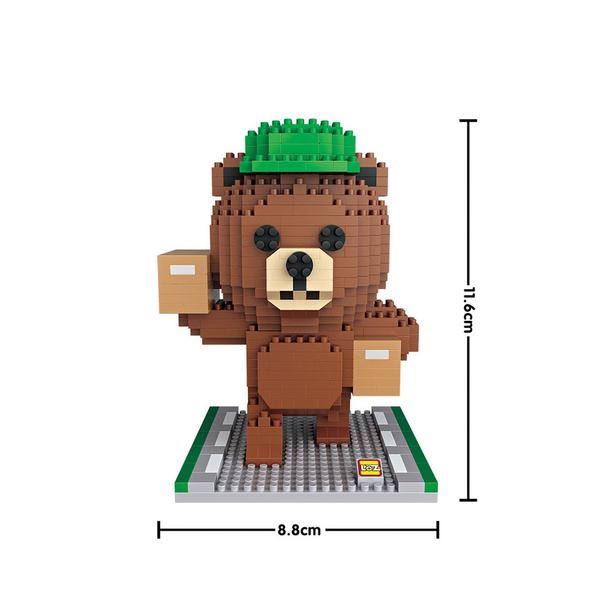 LOZ 9749 Brown Bear with Package Courier
