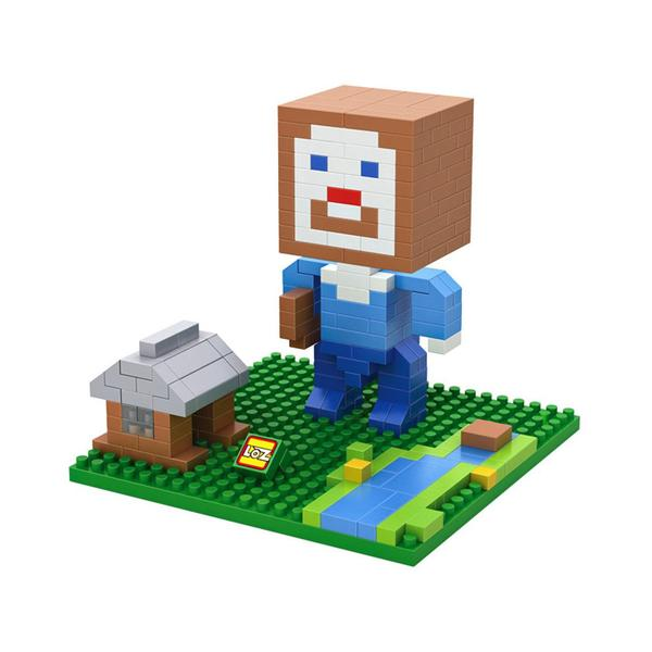 LOZ Minecraft Brown Head
