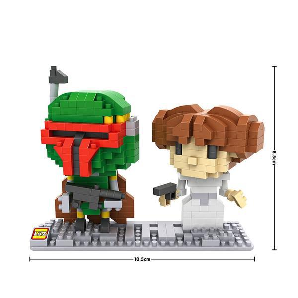 LOZ Star Wars Boba Fett and Leia