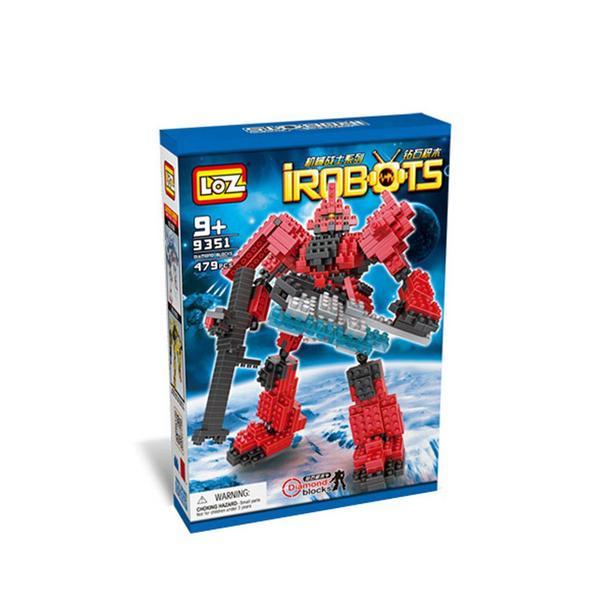 LOZ Transformers Gundam Red