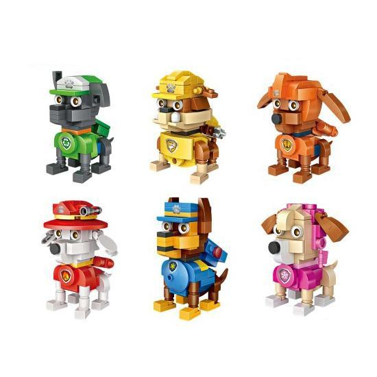 LOZ Cube Dudes Dogs Bundle x6