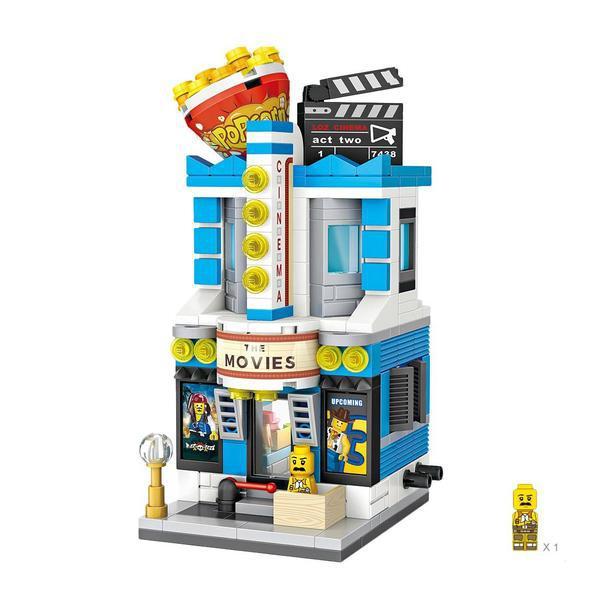 LOZ Mini Street Movie Theatre