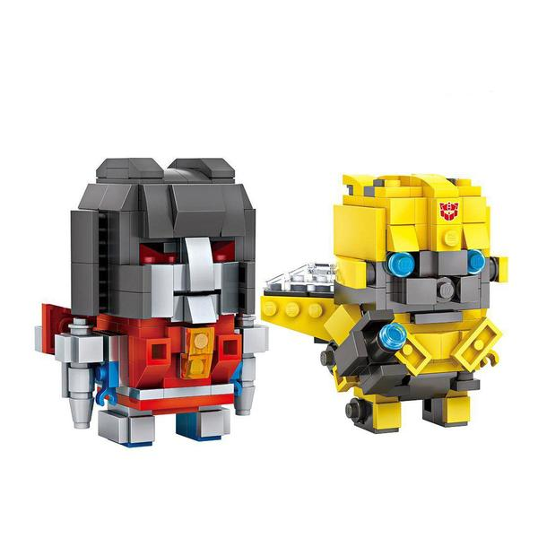 LOZ Brickheadz Starcream and Bumblebee