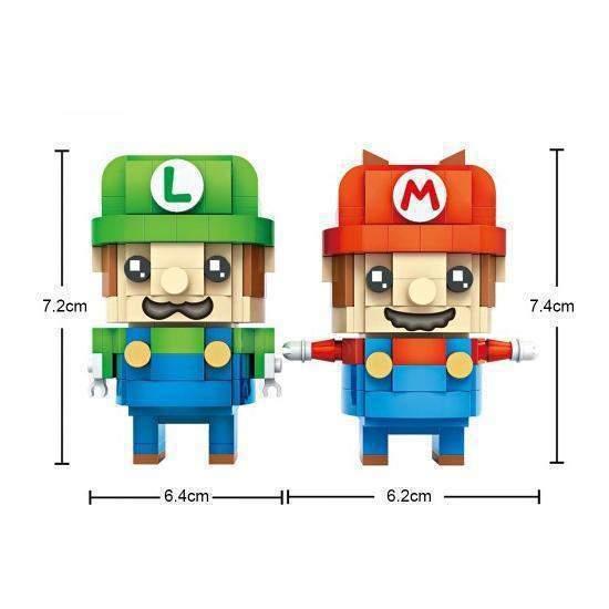 LOZ Brickheadz Super Mario and Luigi