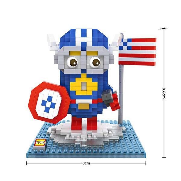 LOZ 9537 Despicable Me Captain America