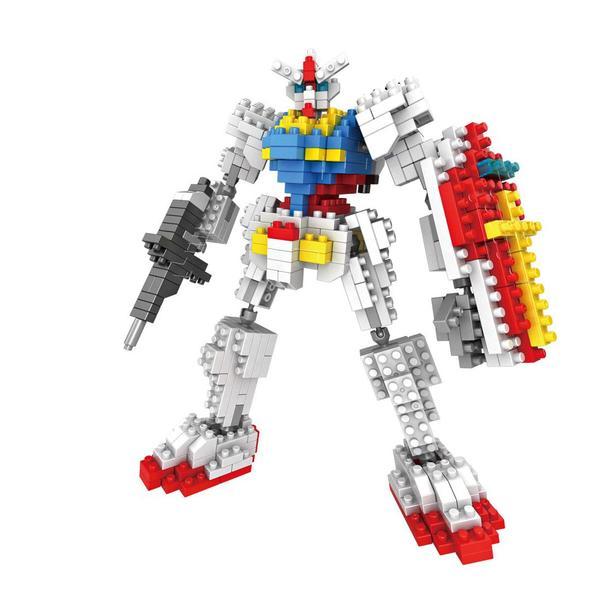 LOZ Transformers Gundam White