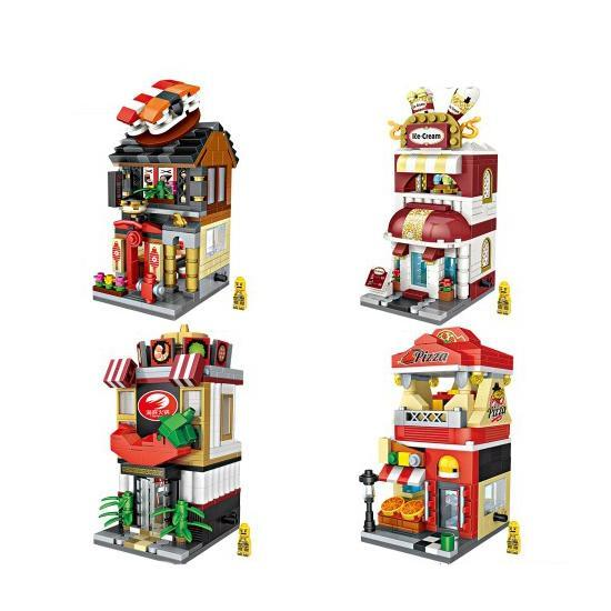 LOZ Mini Street Restaurant Bundle