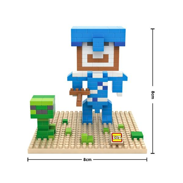LOZ Minecraft Blue Head
