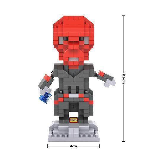 LOZ Superhero Red Skull