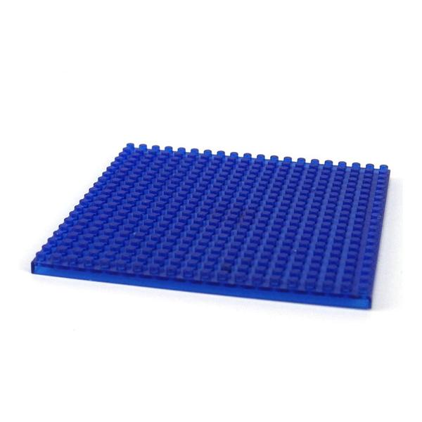 LOZ Baseplate Transparent Blue
