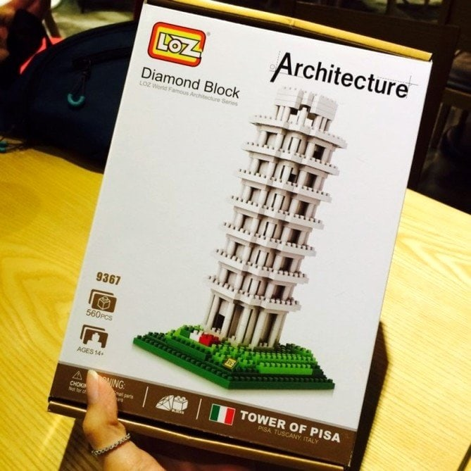Review LOZ Diamond Blocks Model 9367 Leaning Tower of Pisa