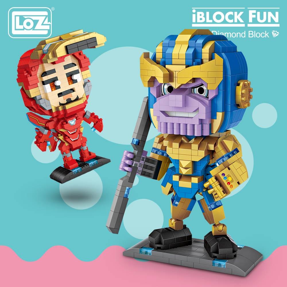 LOZ Diamond Blocks Thanos and Iron Man