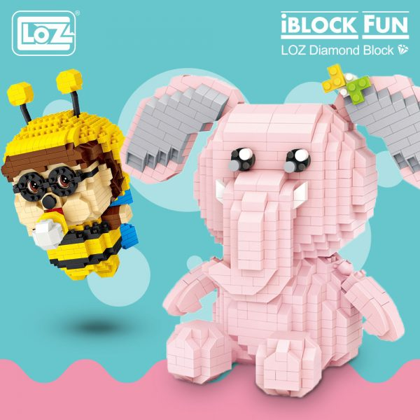 LOZ Diamond Blocks Bee & Pink Elephant