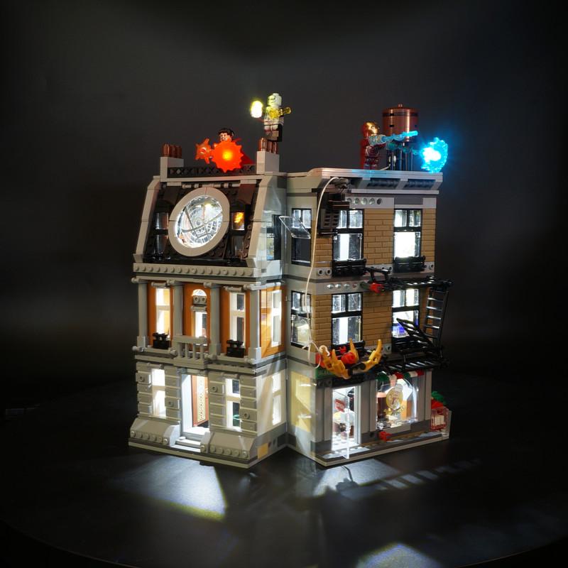 Basic Version LED Light Kit For LEGO 76108 Avengers Infinity War Super Sanctum Showdown (Only Light Set)Kits