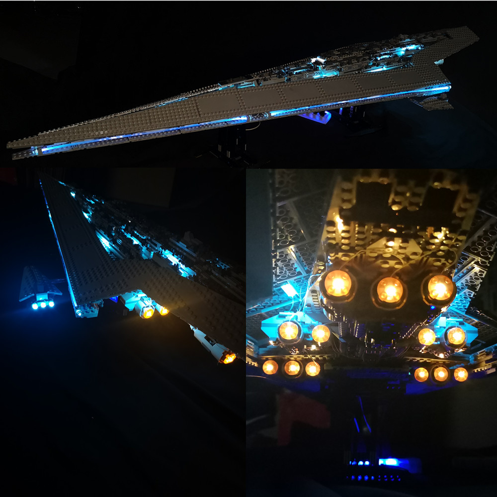 Basic Version LED Light Kit For LEGO 10221 Star Wars Super Star Destroyer Compatible With LEPIN 05028 (Only Light Set)Kits