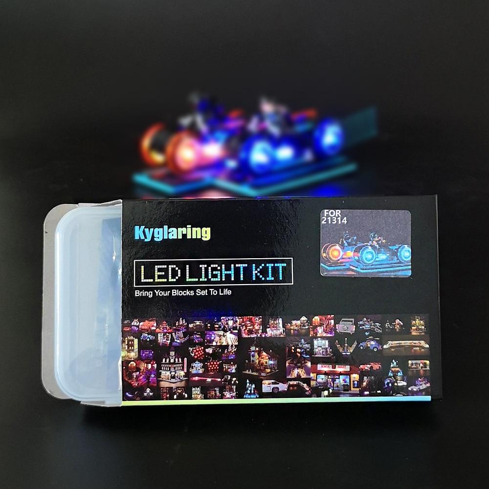 Basic Version LED Light Kit For LEGO 21314 Tron Legacy Light Cycles Racing Motor Bike Lightstream (Only Light Set)Kits