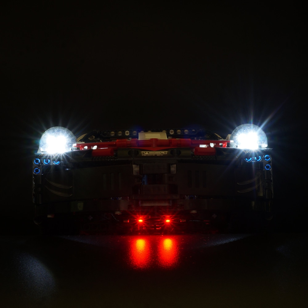 Basic Version LED Light For LEGO Technic Series 42096 White Super Racing Car Set Building Blocks Bricks compatible With LEPIN 20097 (Only Light Set)Kits