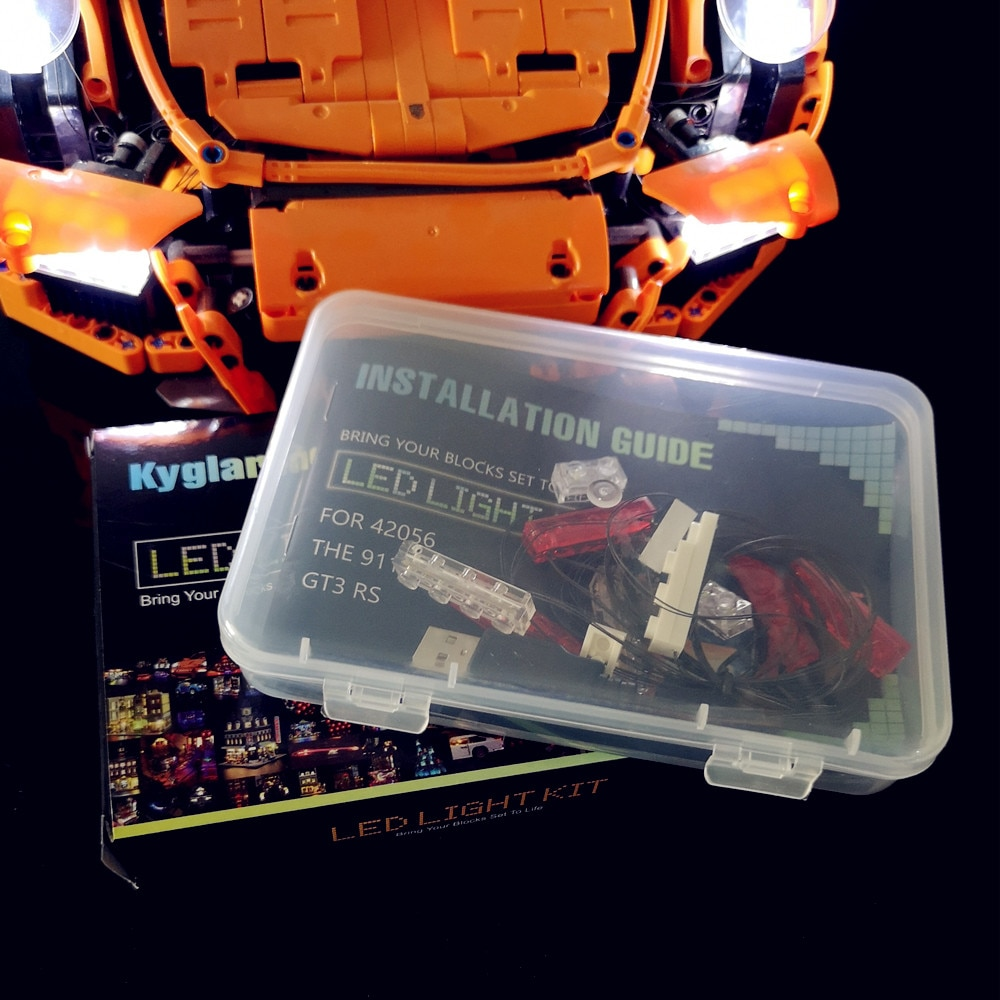 Basic Version LED Light KitFor LEGO 42056 and Compatible With LEPIN 20001 TECHNIC 911 (Only Light Set)Kits