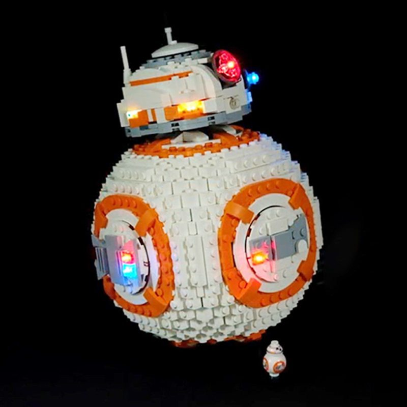 Luxury VersionLED Light Set For LEGO 75187 BB-8 Compatible LEPIN 05128 (LED Light+Battery box)Kits