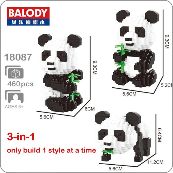 Balody 18087 3-in-1 Medium Panda