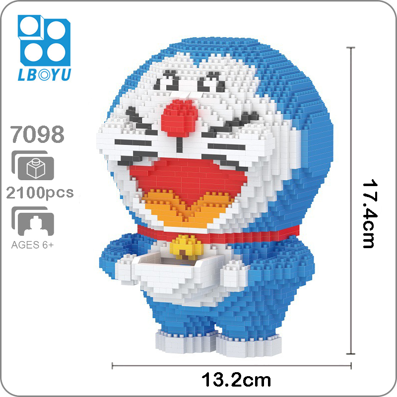Balody 7098 Large Doraemon With Pocket Open