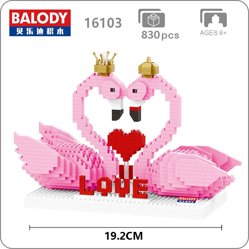 Balody 16103 Large Pink Flamingo Couple