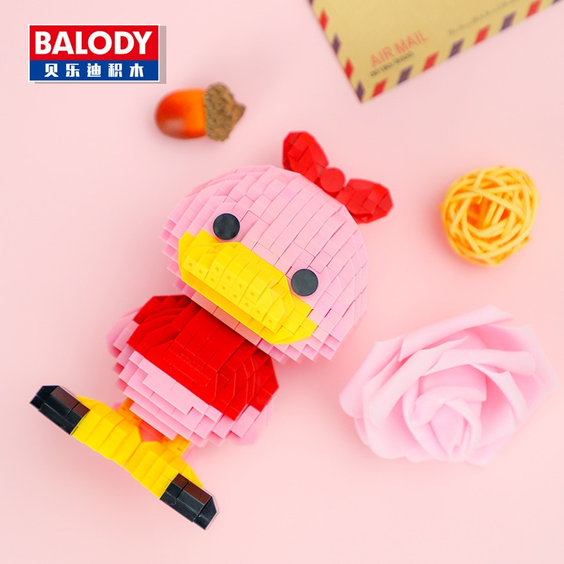 Balody 18098 Large Pink Cartoon Duck