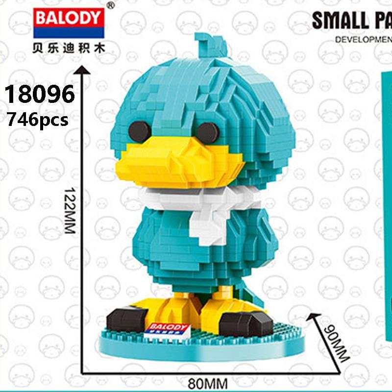 Balody 18096 Large Dark Blue Cartoon Duck
