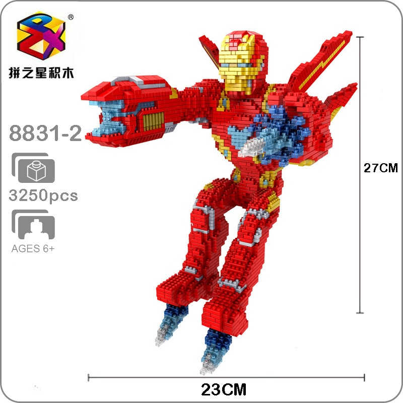 Balody 8831-2 Avengers Flying Iron Man XL