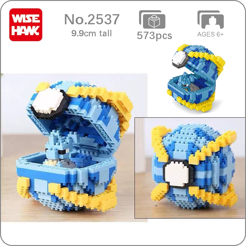 Balody 2537 Medium Pocket Monster Lapras Blue Beast Ball