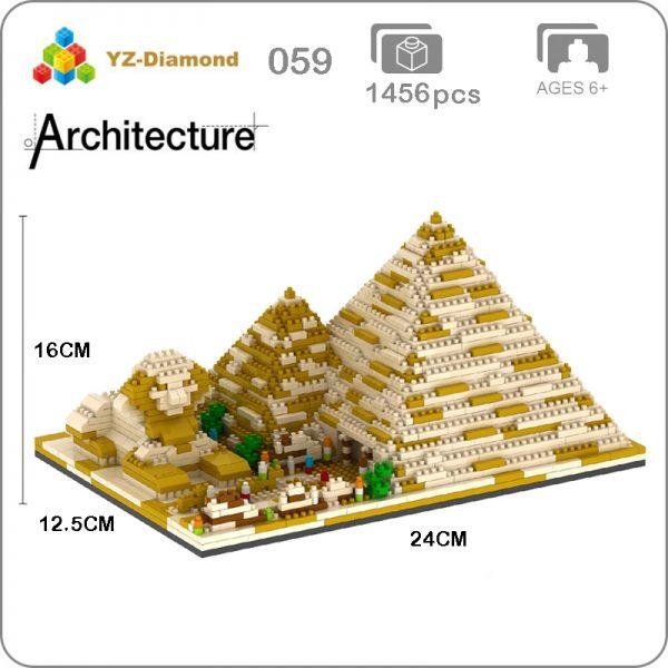 Balody 059 Large Golden Egyptian Pyramids