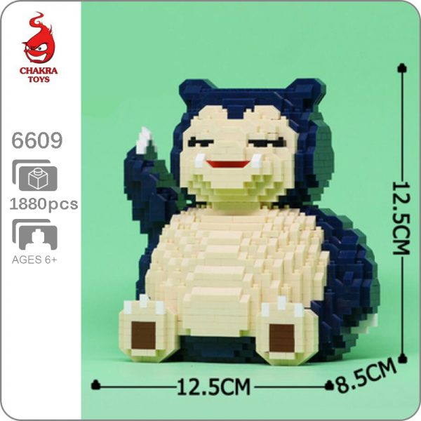 Balody 6609 Medium Pokémon Snorlax Bear