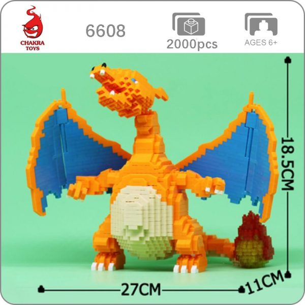 Balody 6608 Large Pokémon Charizard Dragon