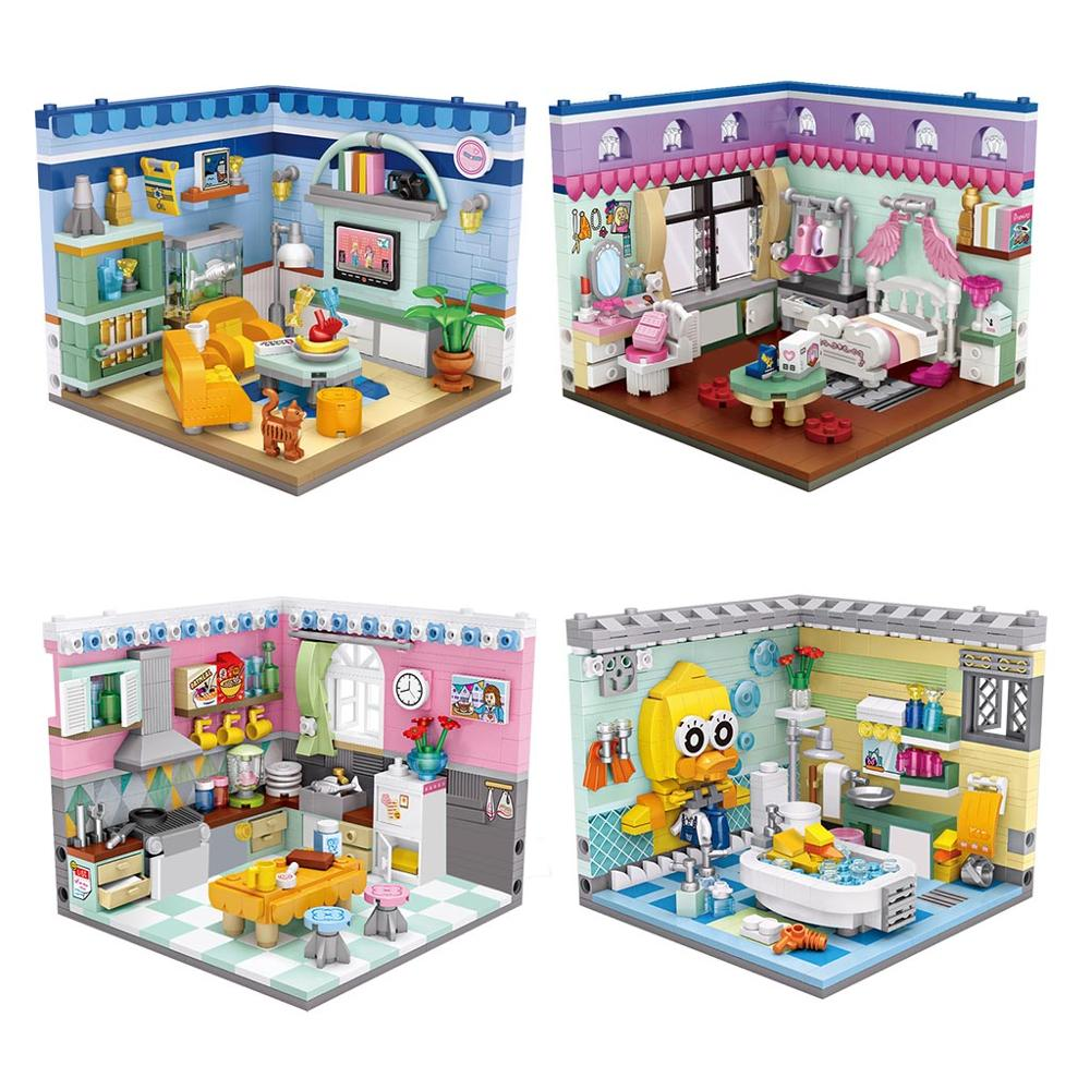 LOZ 1901 1902 1903 1904 Home Set Bundle Mini Bricks