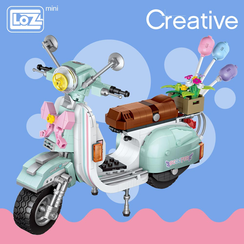 LOZ 1117 Motorcycle Mini Bricks
