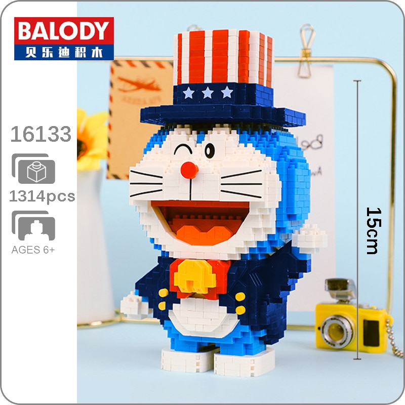 BALODY 16133 Doraemon Magician Mini Bricks